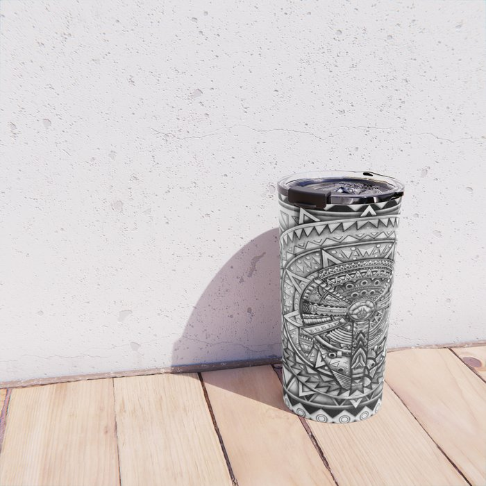 Aztec millennium spaceship iPhone 4 4s 5 5c 6, pillow case, mugs and tshirt Travel Mug