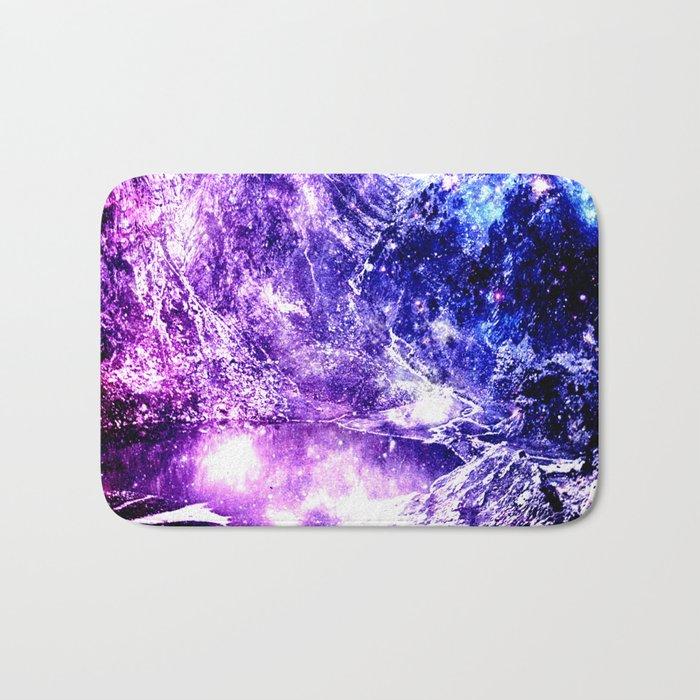 galaxy mountains Bath Mat