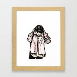 RUN BTS JUNGKOOK Framed Art Print