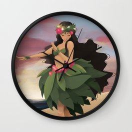 Sunset Dancer Wall Clock