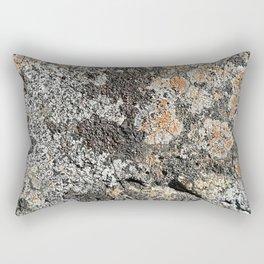 Lichen on the granite rock Rectangular Pillow