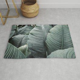 Banana Leaves Tropical Art Rug