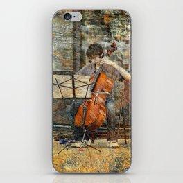 Sidewalk Cellist iPhone Skin