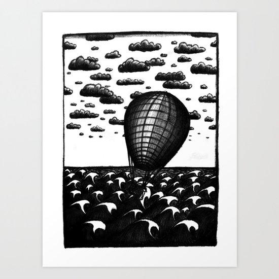 Sea Balloon Art Print