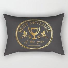 Mother's day golden trophy Rectangular Pillow