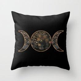Triple Moon - Dark Side Throw Pillow
