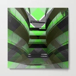 Puzzled Spirals [green] Metal Print