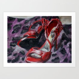 Red Heels Art Print