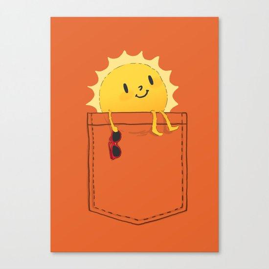 Pocketful of sunshine Canvas Print