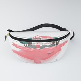 Pink Whale Fanny Pack