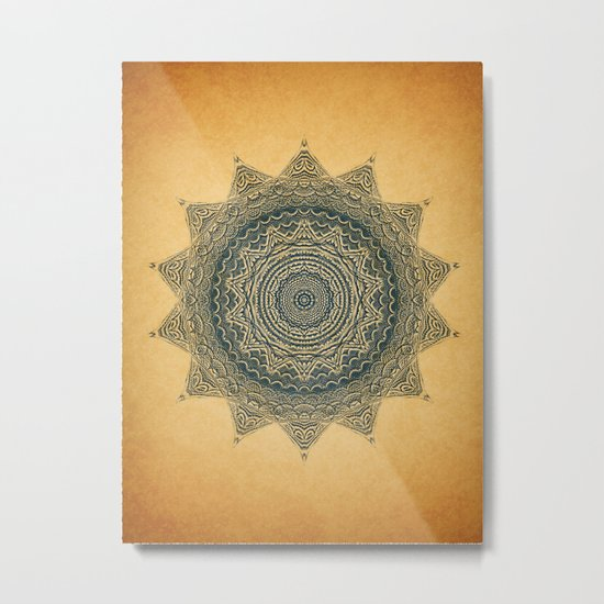 Sun Symbol Metal Print