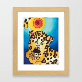 A Leopard named Louis Framed Art Print