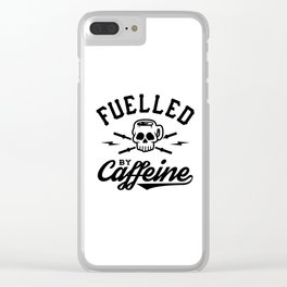 Fuelled By Caffeine v2 Clear iPhone Case