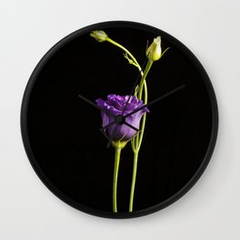 Lonely Lisianthus Wall Clock
