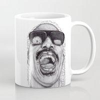 stevie nicks Mugs featuring Stevie  by Paul Nelson-Esch Art