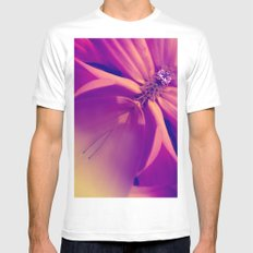 Floral Gem Abstract Mens Fitted Tee MEDIUM White