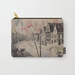 Ghent Painted Postcard Carry-All Pouch