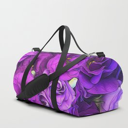 Purple Lisianthus Flowers Duffle Bag