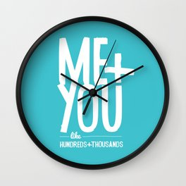 Me & You, baby Wall Clock