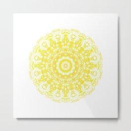 Mandala 12 / 2 eden spirit yellow Metal Print
