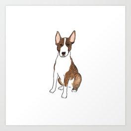 Bull Terrier Life - Watercolor Bull Terrier Art Print
