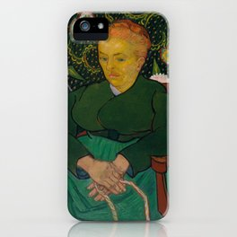 Vincent van Gogh - La Berceuse (Woman Rocking a Cradle; Augustine-Alix Pellicot Roulin, 1851–1930) iPhone Case