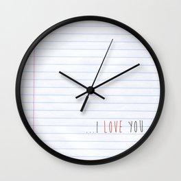 ...I Love you Wall Clock