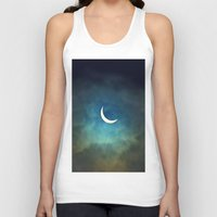 clouds Tank Tops featuring Solar Eclipse 1 by Aaron Carberry