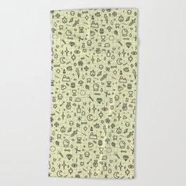 Doodles Pattern Beach Towel