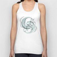 pisces Tank Tops featuring Pisces by Vibeke Koehler