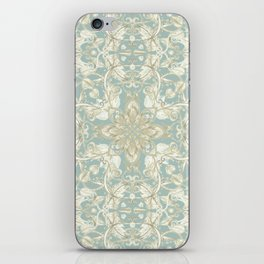 Soft Sage & Cream hand drawn floral pattern iPhone Skin