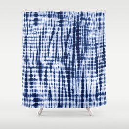 Shibori Tie Dye Pattern Shower Curtain