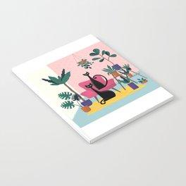 Sleek Black Cats Rule In This Urban Jungle Notebook