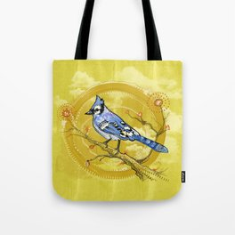 Blue Jay Iris Tote Bag