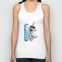 targaryen Tank Tops featuring SNOW MAN OLAF by BeautyArtGalery