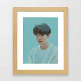 BTS Yoongi Portrait Framed Art Print