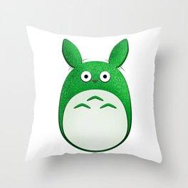Spirit of the Forest, Green Throw Pillow