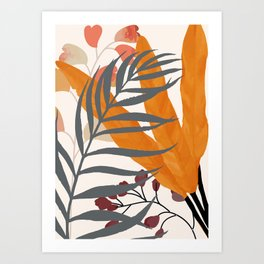 Colorful Red Leaves Art Print