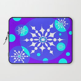 A Winter Snowy Design with Pretty Snowflakes Laptop Sleeve