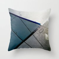 aviation Throw Pillows featuring Aviation by Paper Possible