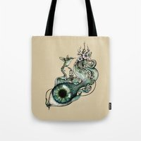 inspiration Tote Bags featuring Flowing Inspiration by Enkel Dika