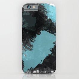 Black and Blue Paint Splash iPhone Case