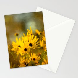 Autumn Botanical -- Painterly Sunflowers Stationery Cards