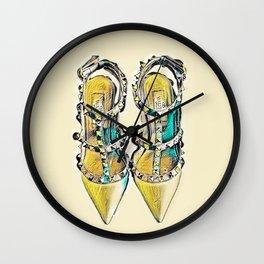 Rockstud Shoes Numero 2 Wall Clock