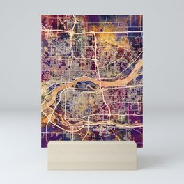 Quad Cities Street Map Mini Art Print