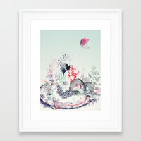 squirrel Framed Art Prints featuring squirrel by bachullus
