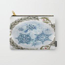 Christmas Celtic Knot Australian Gumnut Mandala Watercolor Pencil Painting Carry-All Pouch