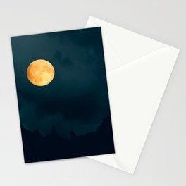 Full Moon Shines Overnight #decor #society6 #buyart #homedecor Stationery Cards