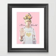 Miss World Framed Art Print