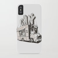truck iPhone & iPod Cases featuring Shopping Truck by Mitt Roshin